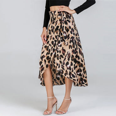 Leopard Printed Evening Skirt