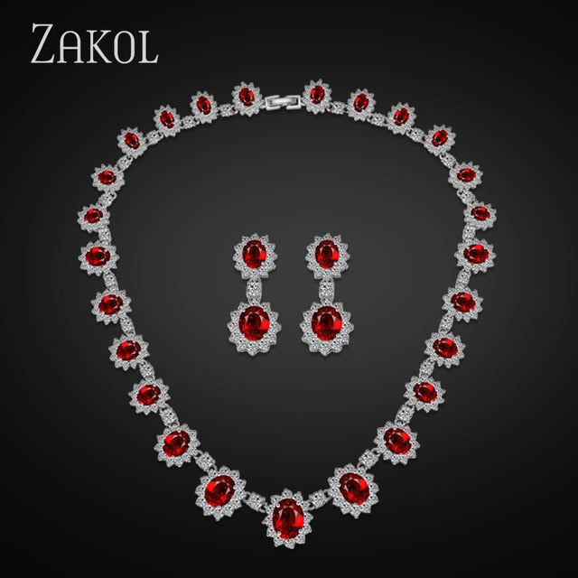 Jewelry Set With Luxury Silver Color