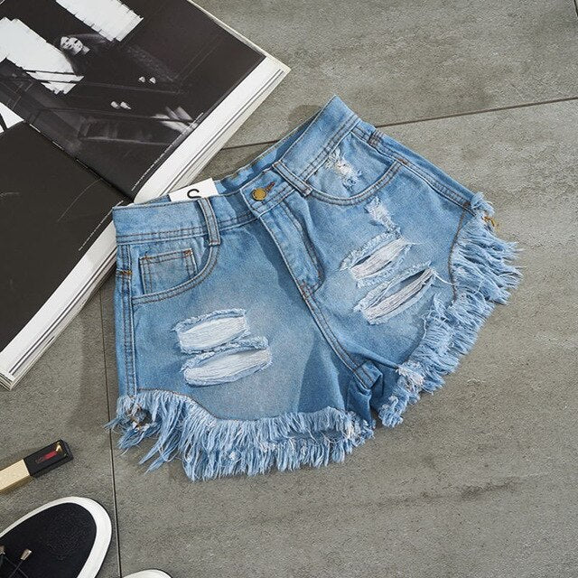 Summer Fashion Women Denim Shorts