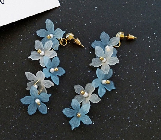 flowers stud earrings for women