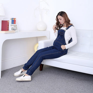 Denim Maternity Bib Pregnancy Jumpsuits