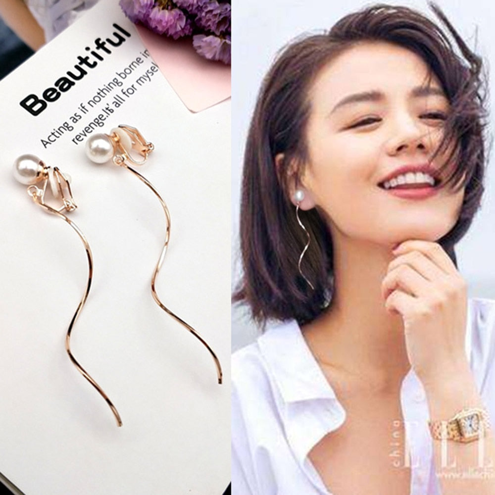 Hole Earring Trendy Simple Style