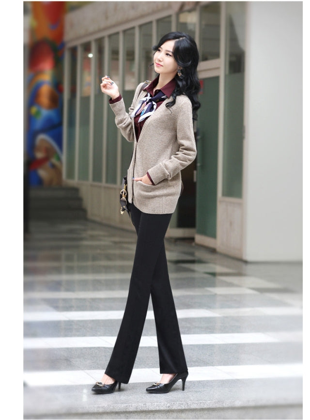 Lady Slim High Waist Black Office