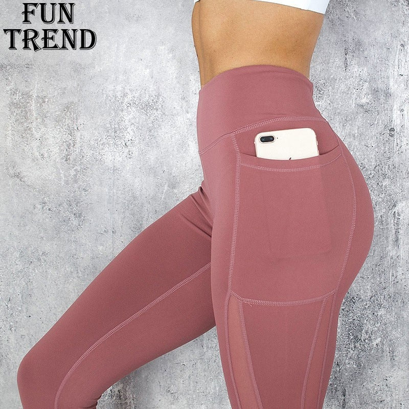 Yoga Pants High Waist Mesh Sport