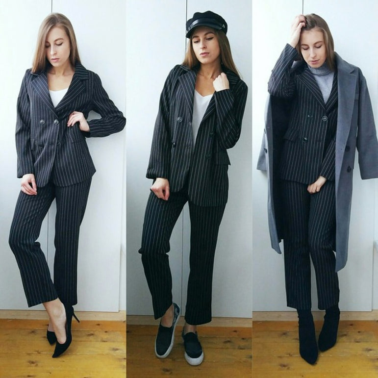 Work Pant Suits 2 Piece Sets