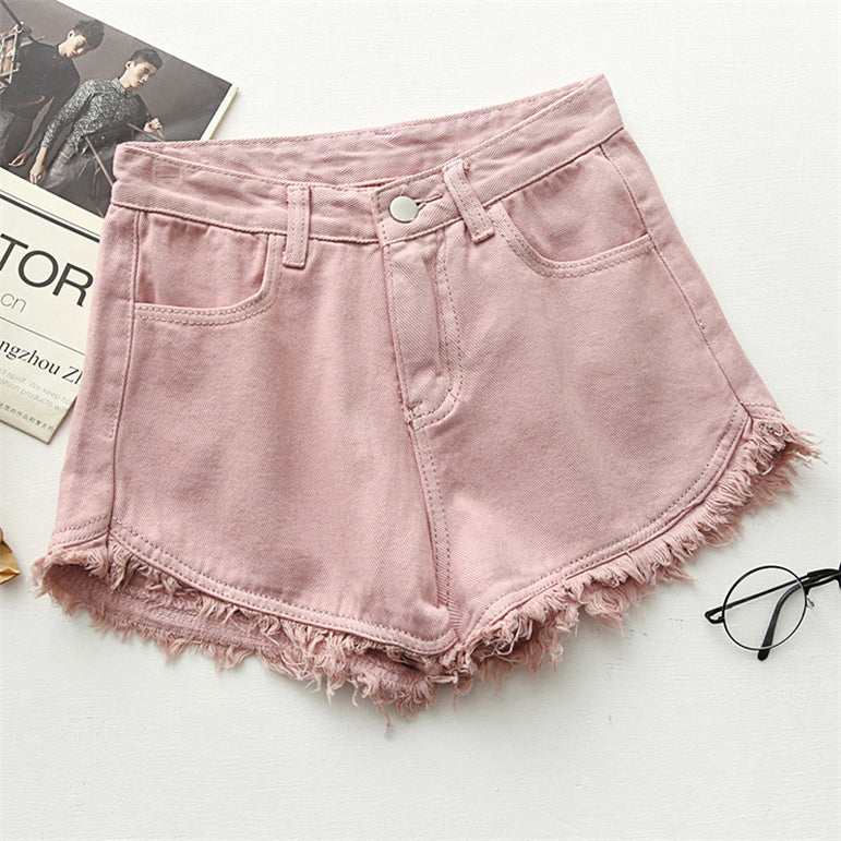 High Waist Denim Shorts Women