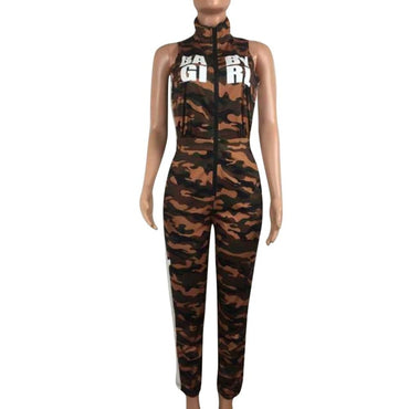 Camouflage Women Street Jumpsuits