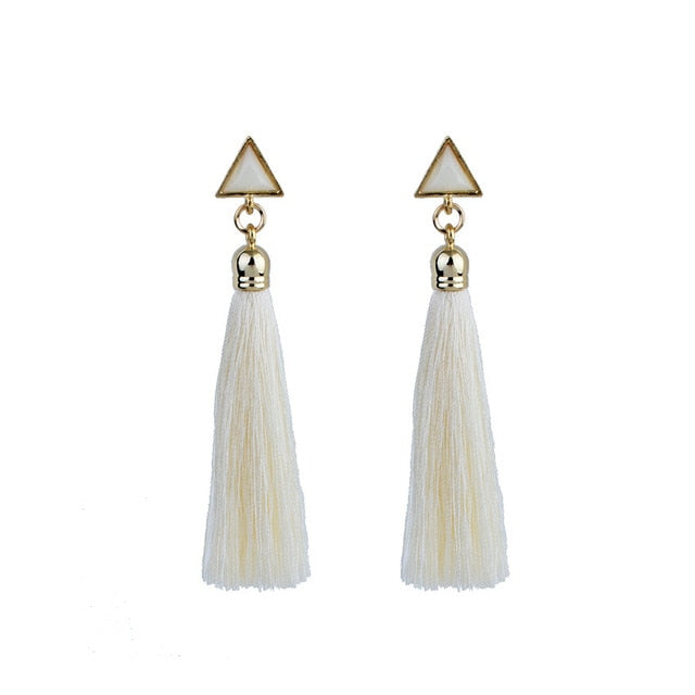 Long Gradient Drop Bohemian Earring