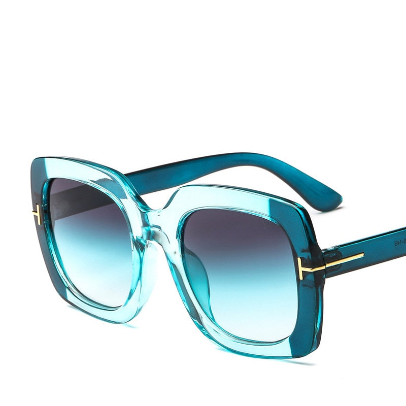 Square Mirror Famous Brand Sunglasses