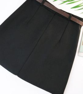 Skirts Womens With Belt Woolen