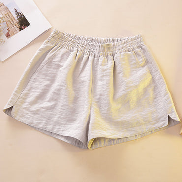 Elastic High Waist Wide Leg Shorts