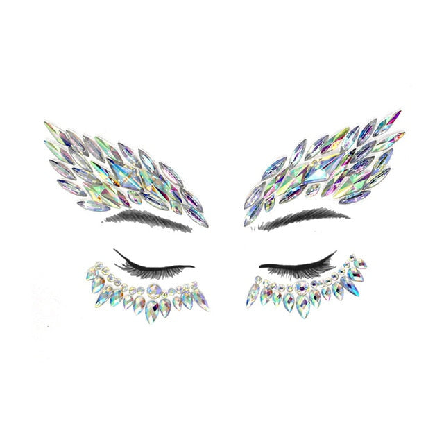 Jewels Sticker Eyebrow Music Festival Body