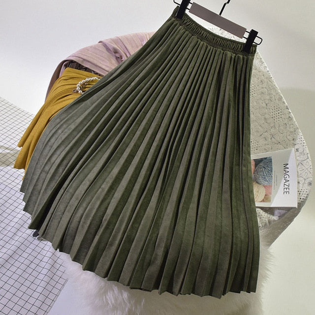Skirt Long Pleated Skirts Womens