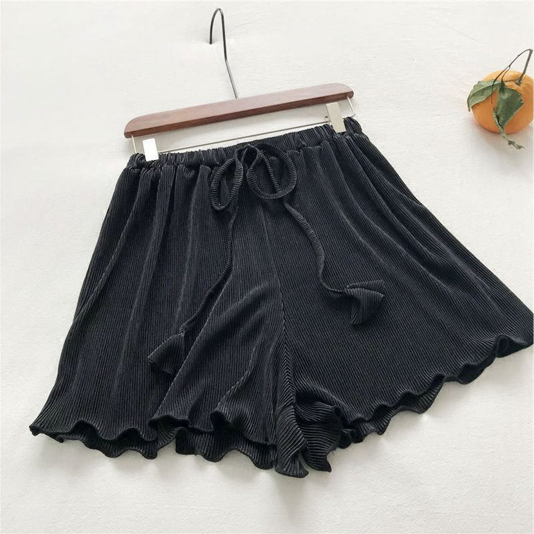 Fashion Drawstring Short Wide Leg