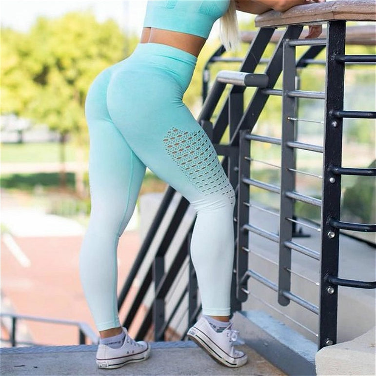 Yoga Pants Cut Out Running Tights