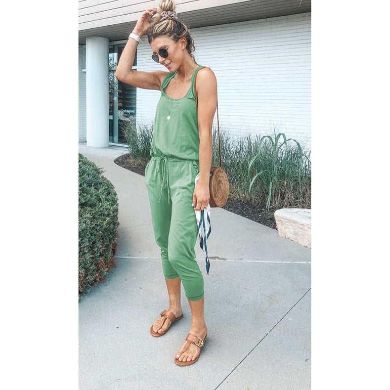 Sexy Sleeveless jumpsuit women romper