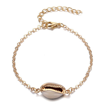 Bohemian Shell Map Turtle Bracelet
