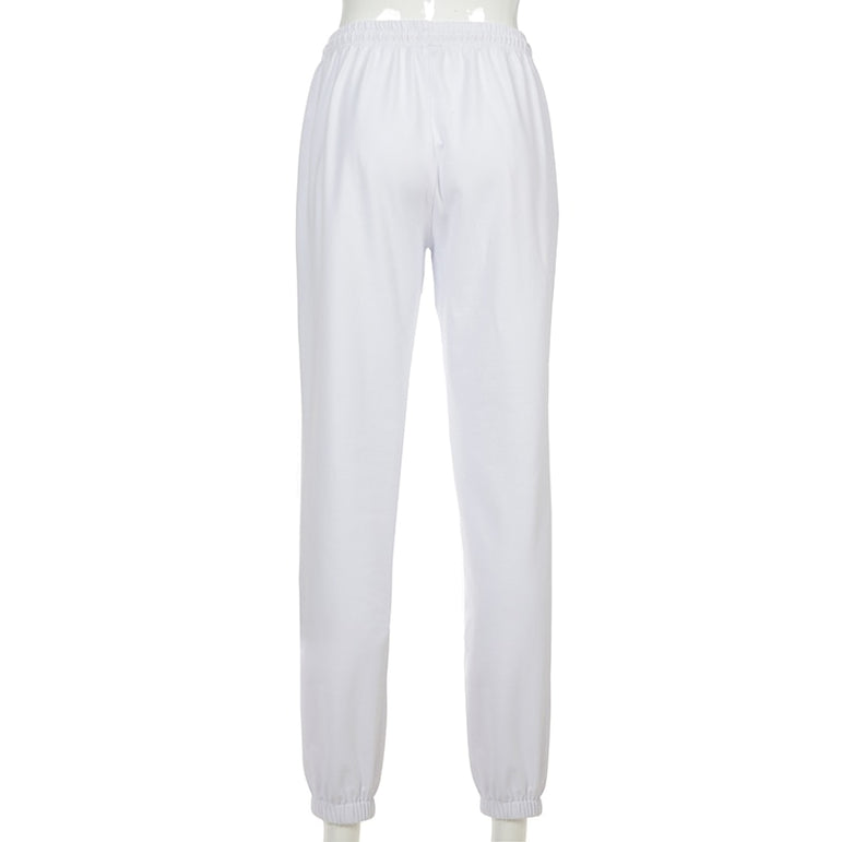 Streetwear Pants  White Flaming