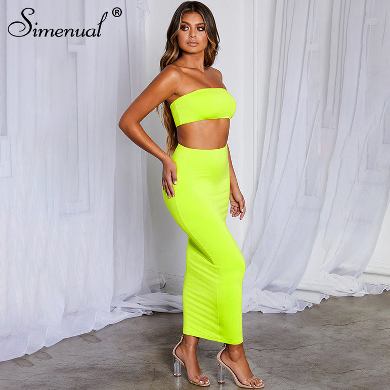 Party Strapless Top And Skirt
