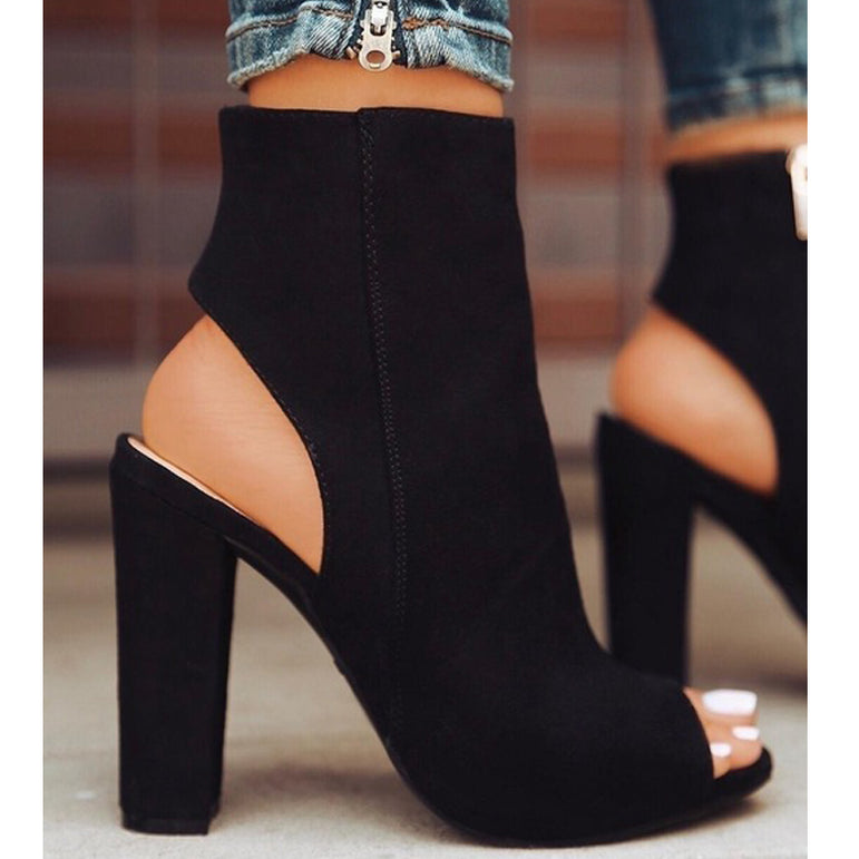 High Heels Zipper Casual