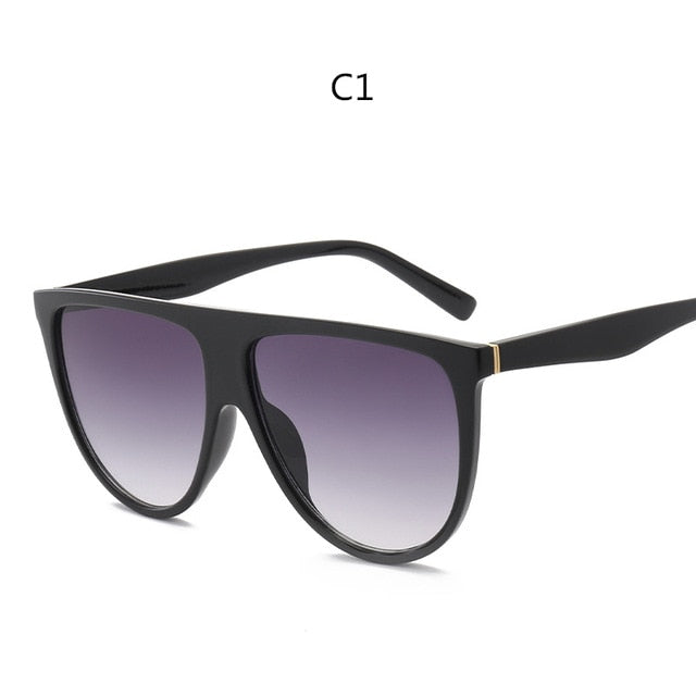 Luxury Large Frame Clear Lens Sun Glasses