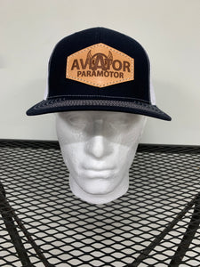 Aviator Paramotor Leather Patch Hat