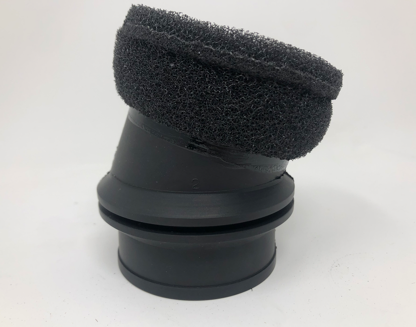 Rubber Air Box Collar for Atom 80 and Moster 185 With Sponge Filter