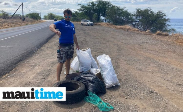 Volunteers Collect rubbish from neighborhoods and shorelines as part of the 16th Annual Lahaina Town Cleanup