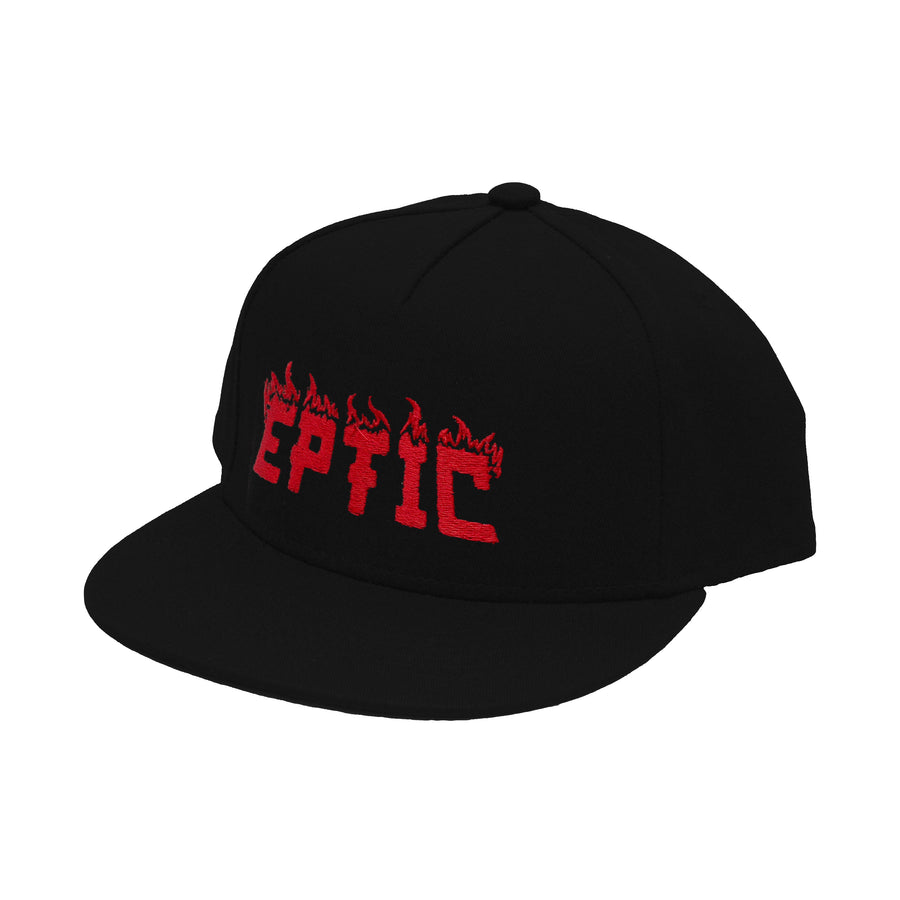 Flame Snapback Hat