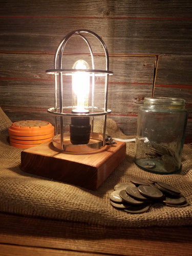 Caged Light Lamp