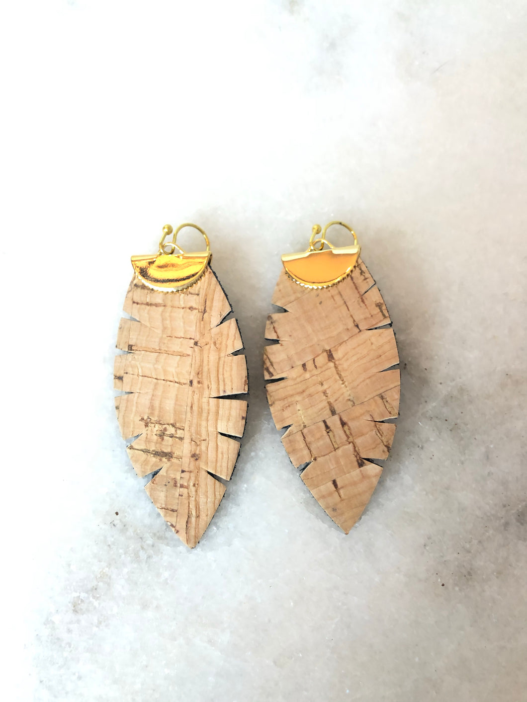 Feather Cork Earrings