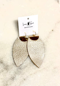 $42 Platinum & Gold Leaf Earrings