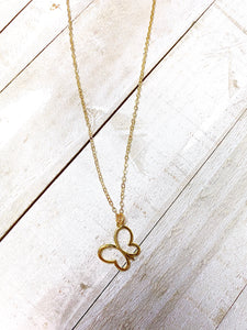 Butterfly Project Signature Necklace 18k gold