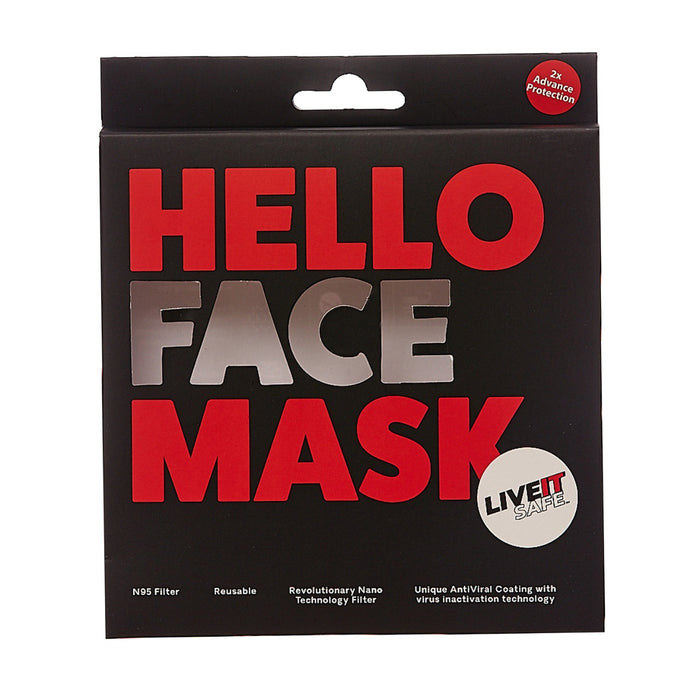 X1 N95 COTTON KNITTED FACE MASK GREY