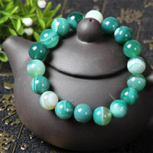 Load image into Gallery viewer, Green Sardonyx Himalayan Stone Bracelet - Himalayan Trading Co.®