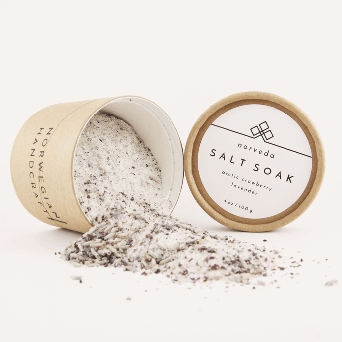 Norveda SALT SOAK w/ arctic crowberry & lavender - Himalayan Trading Co.®