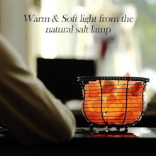Load image into Gallery viewer, Basket Salt Lamp With Salt Chunks - Himalayan Trading Co.®