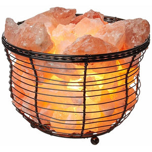 Basket Salt Lamp With Salt Chunks - Himalayan Trading Co.®