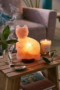 Purrfect Cat Himalayan Salt Lamp - Himalayan Trading Co. Himalayan Salt Lamp Himalayan Pink Salt