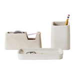 Natural Concrete Desk Set