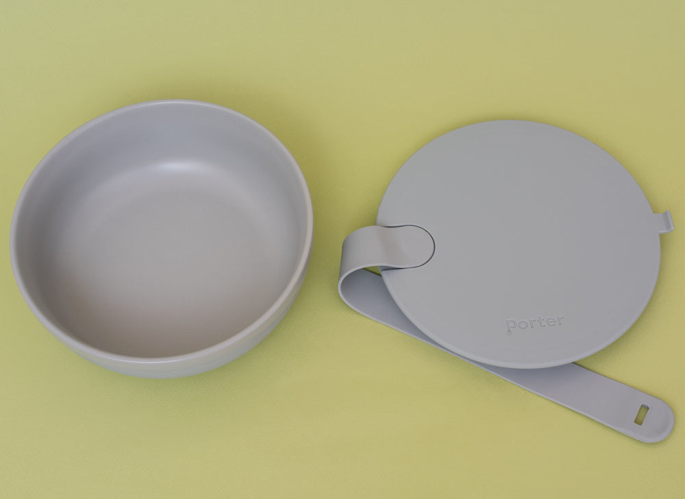 Plastic Free Ceramic & Silicone Takeaway Lunchbox Bowl