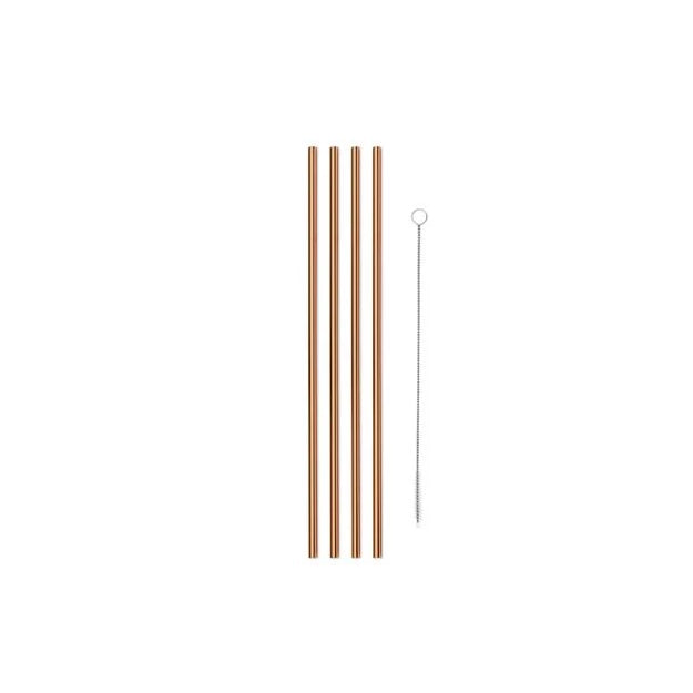 Plastic Free Metal Straws with Cleaner Brush