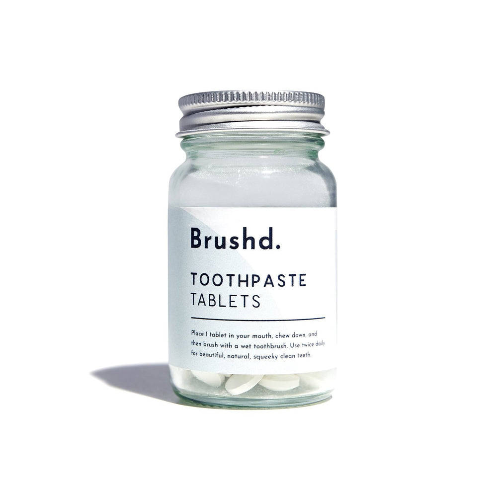 Natural Fresh Mint Toothpaste Tablets Body Brushd. Flouride