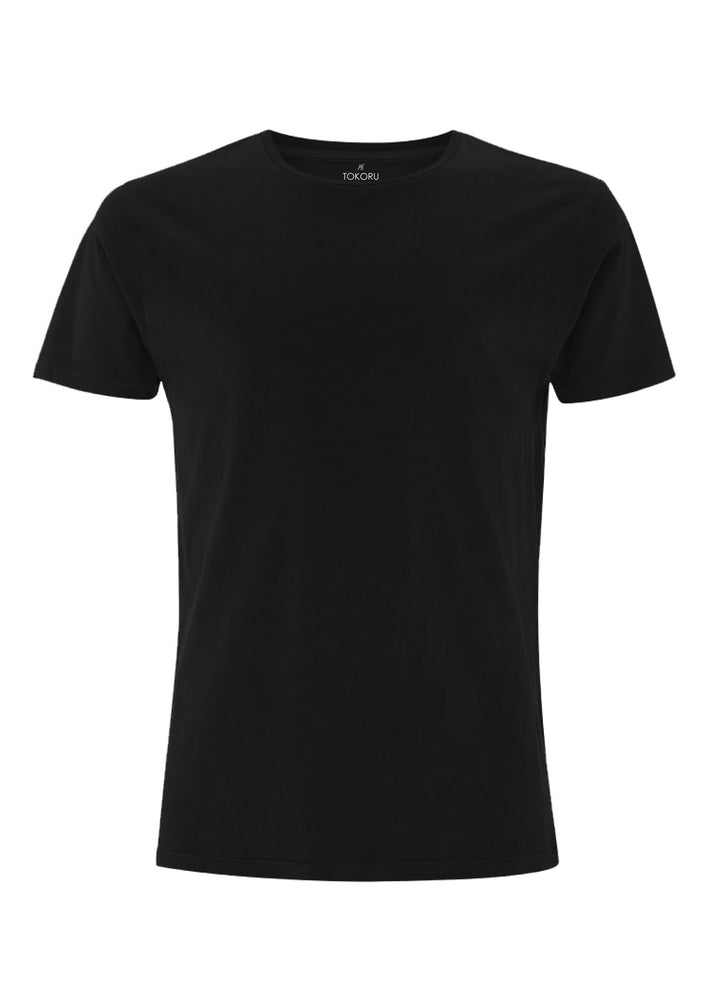 Organic Cotton Tee Clothing Tokoru Black Small