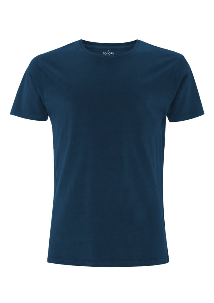 Organic Cotton Tee Clothing Tokoru Navy Small