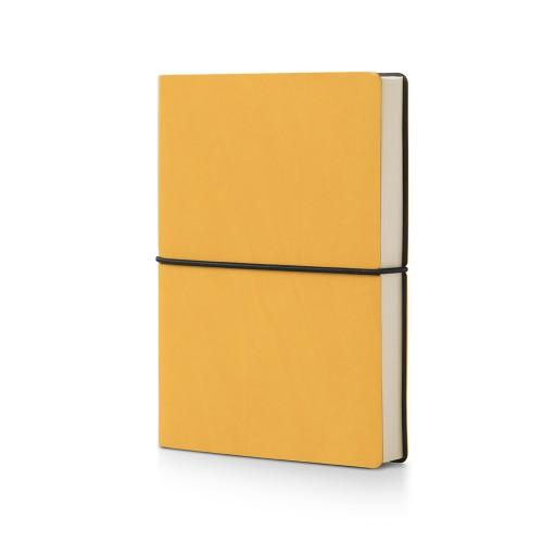 Plastic Free Recycled Notebook Stationery CIAK Plain Yellow