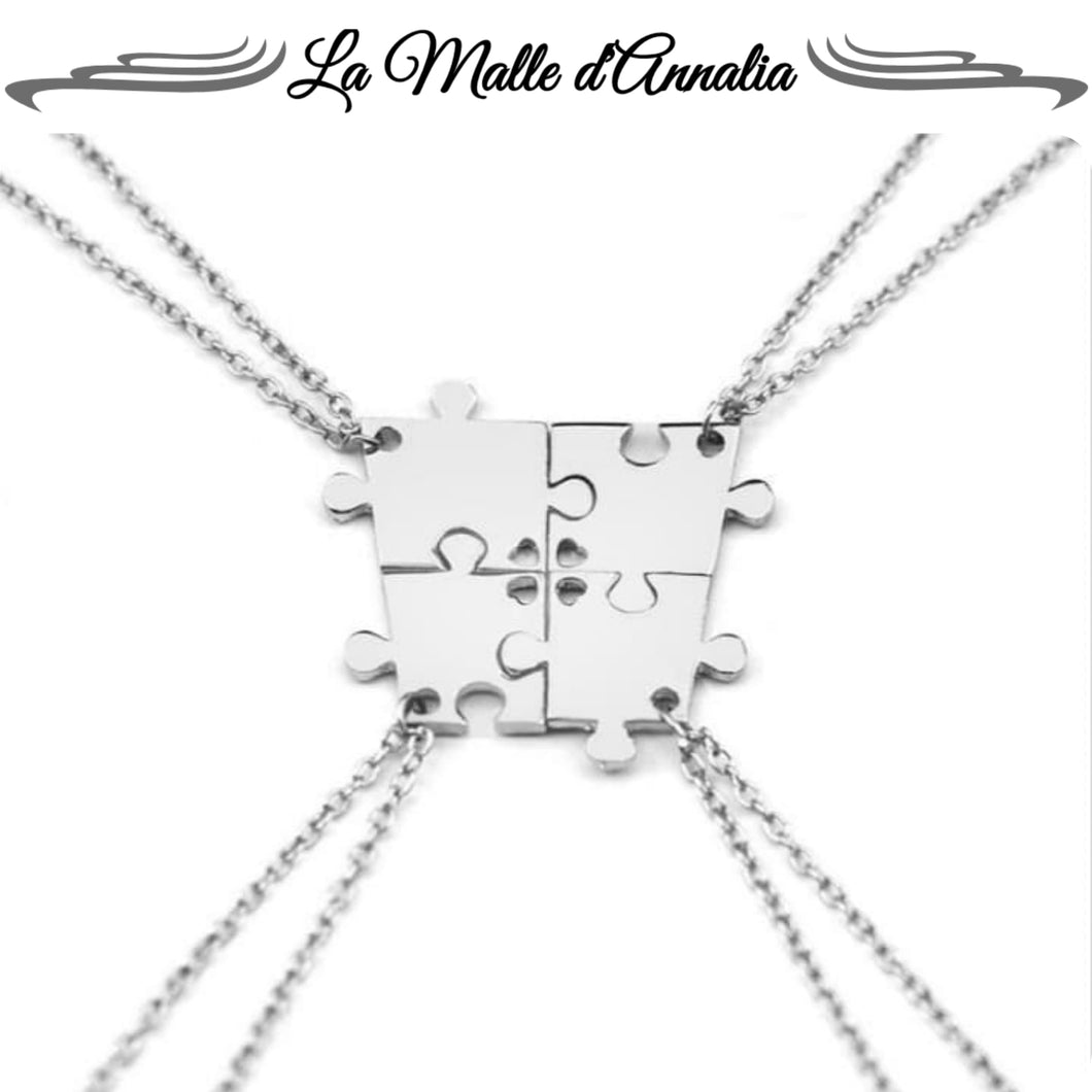 AMORE : ensemble colliers puzzle