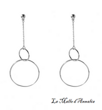 Charger l'image dans la galerie, SAVERIA: double cercles chic