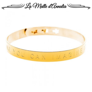 REAL : bracelet Jonc message Everything you can imagine is real