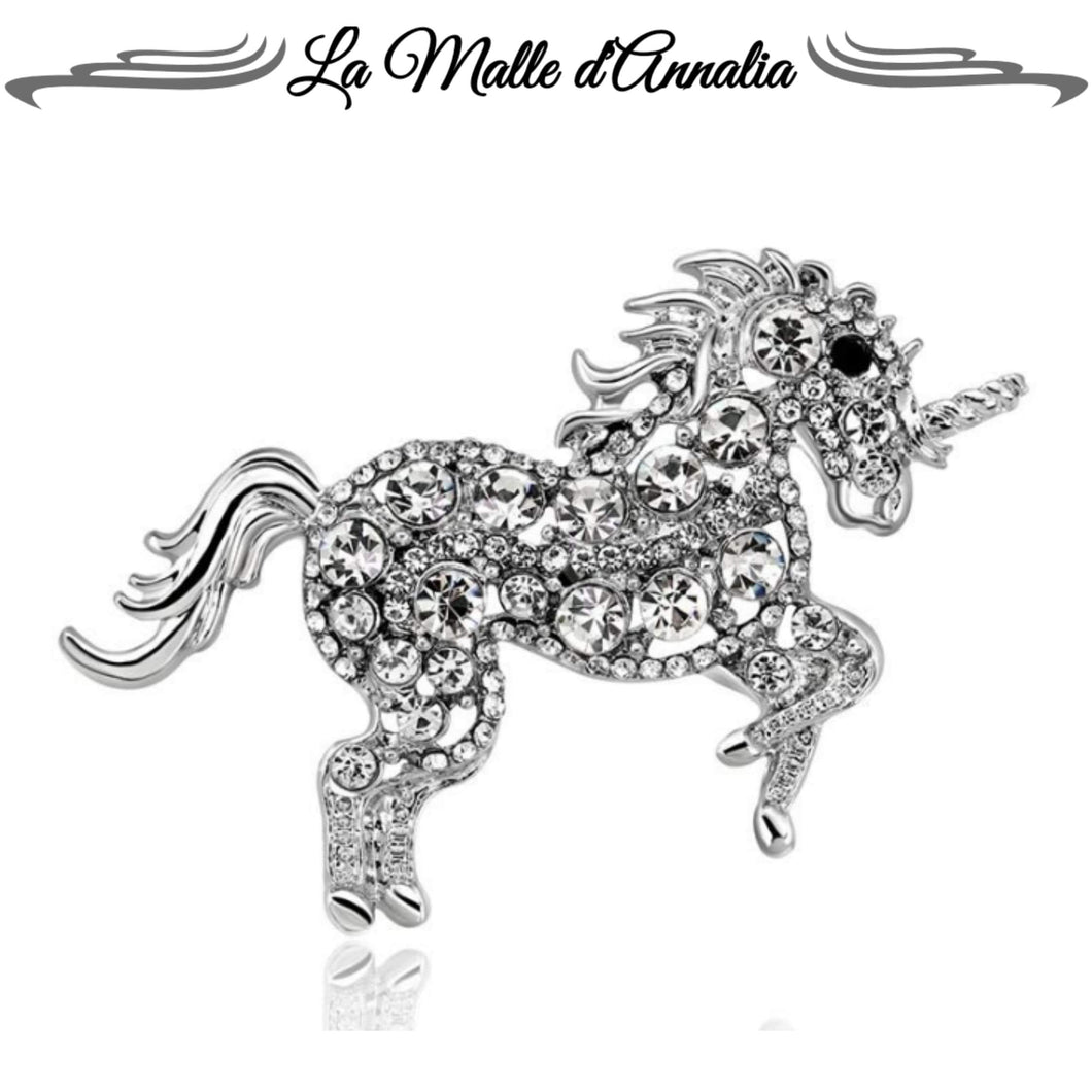 LICORNE : Broche Strass chic